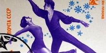 Sello conmemorativo de los Juegos Olímpicos de invierno de Moscú