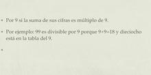 PRIMARIA - 6º - MATEMÁTICAS - CRITERIOS DE DIVISIBILIDAD