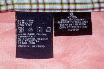 Etiquetas de tela