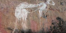 Pintura rupestre de un canguro, Kakadu, Australia