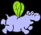 Zampatartas del hipopótamo comilón