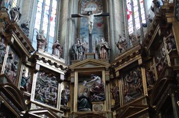Detalle retablo, Catedral de Astorga, León, Castilla y León