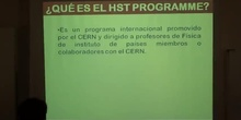 El programa HST del CERN para profesores de instituto