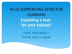 IN-22 SUPPORTING EFFECTIVE LEARNING Project_Lola