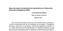 Algo más sobre la enseñanza de la gramática en la ESO
