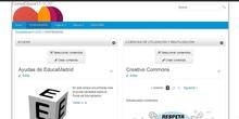 Situar contenidos en dos columnas en una web de EducaMadrid