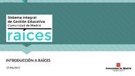 Presentación RAICES centros DAT Madrid-Oeste
