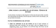 5º de Primaria - TECNICAS DE ESTUDIO I