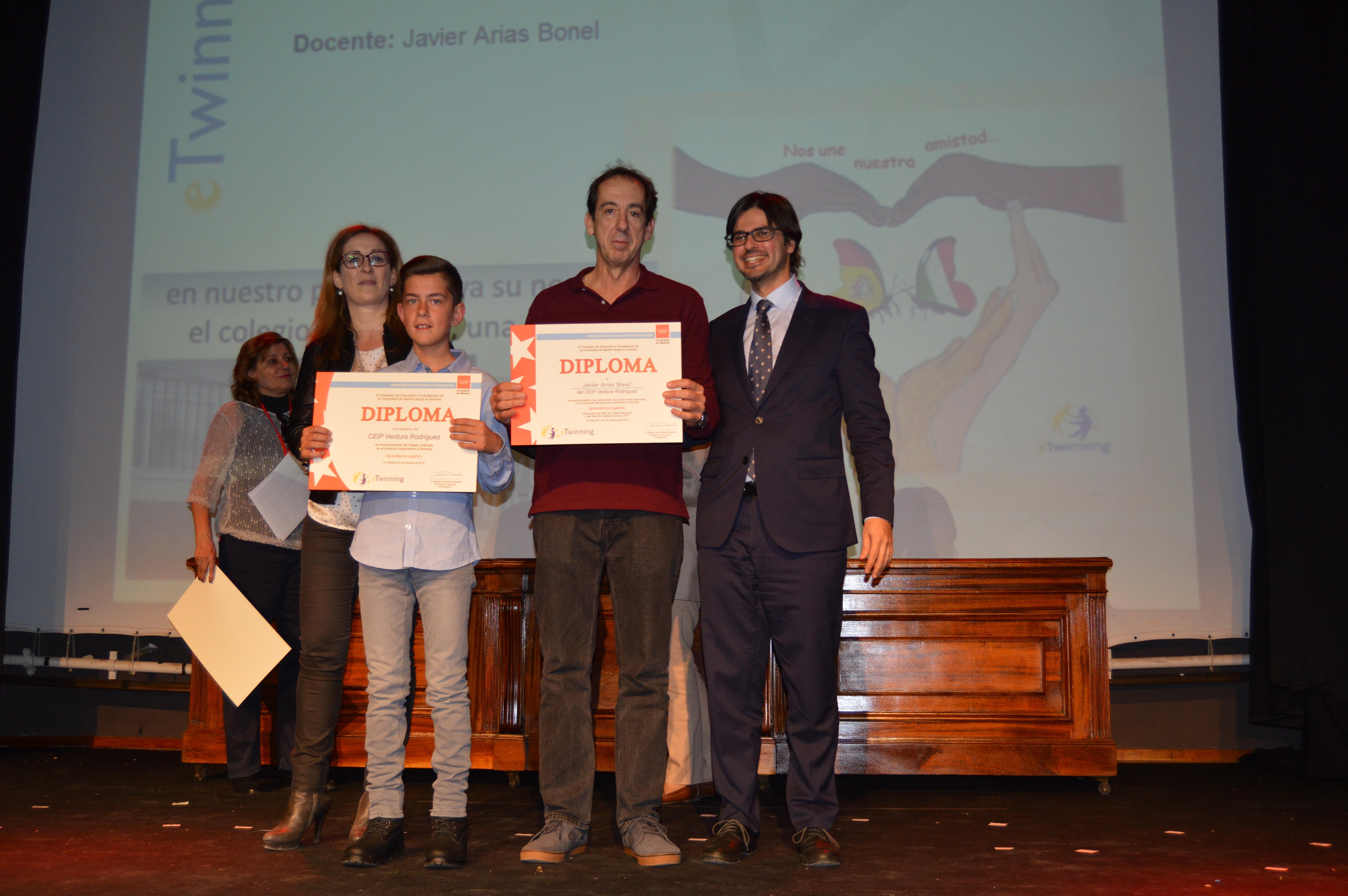Entrega diplomas II Edición Reconocimiento Sellos de Calidad eTwinning Comunidad de Madrid 5