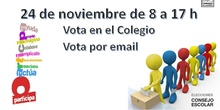 Elecciones Consejo Escolar 2020_Cartel Informativo_CEIP FDLR_Las Rozas