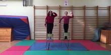 Valeria and Carla Gymnastics exercise