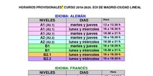 grupos EOI curso 2019-2020