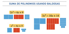 Suma de polinomios con baldosas