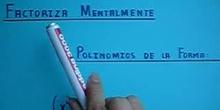 """Factorización Mental Polinomios """"Igualdades Notables"""""""