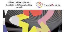 Editor online: Efectos (acordeón, pestañas, paginación, carrusel)