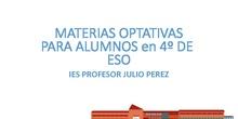 Optativas 4º ESO IES PROFESOR JULIO PÉREZ