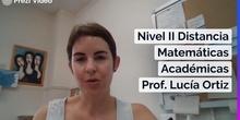 Vídeo Presentación Matemáticas Académicas Nivel II Distancia