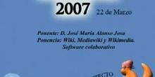 Boadinux 2007 - Wiki, Mediawiki y Wikimedia. Software colaborativo.