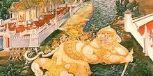 Frescos con escenas mitológicas, Tailandia