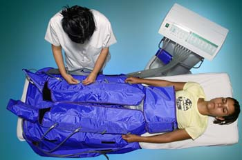 Presoterapia: conexión de tubos