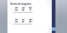 ANGULOS III. Resta de ángulos