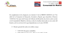 Horarios y servicios CEIP Juan Zaragüeta