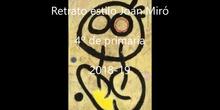 Retratos estilo Miró 4º de primaria
