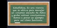 6º matemáticas Estadística. Medidas estadísticas