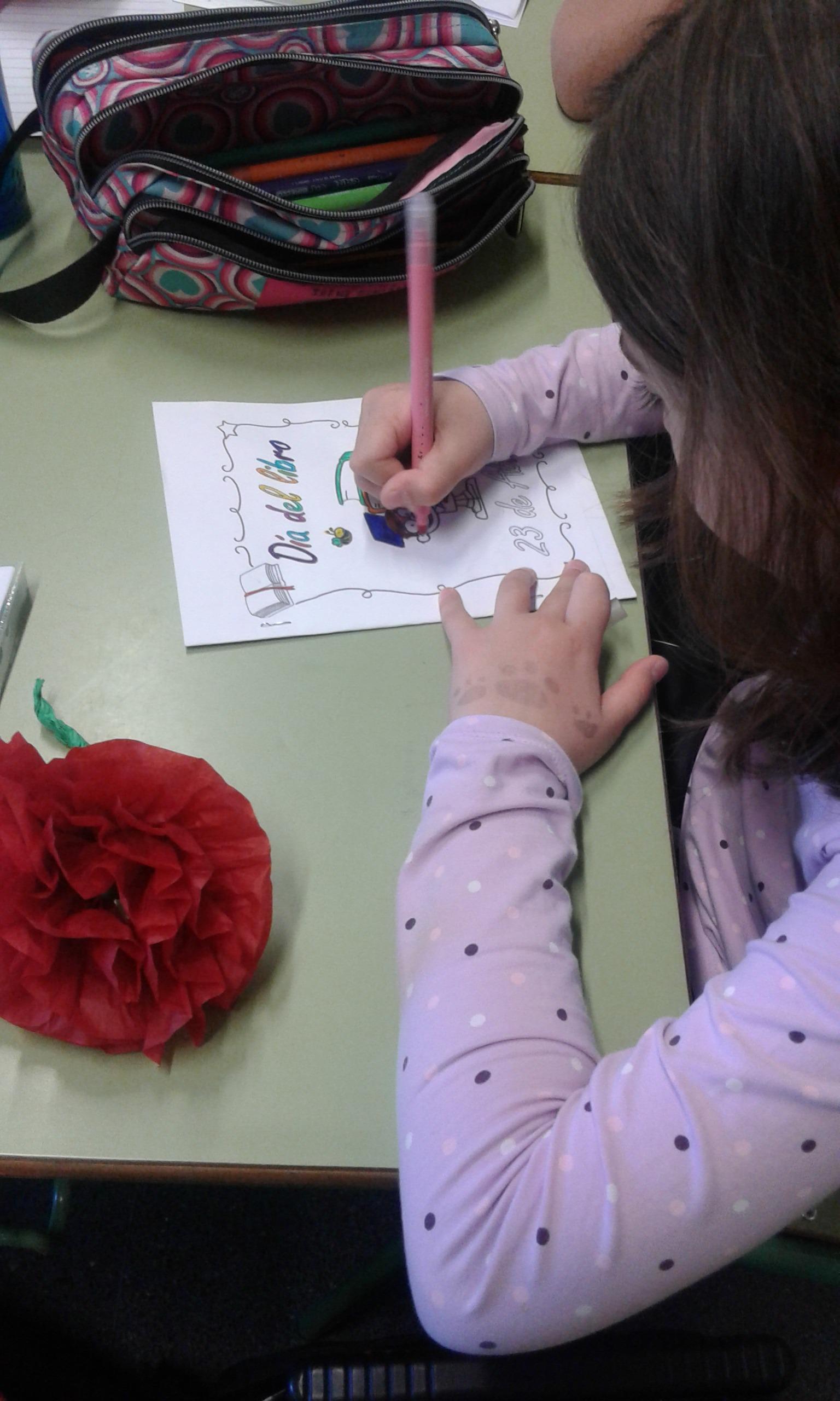Día del libro. Escribimos nuestro libro, lo leemos a nuestros compis y regalamos una flor 11