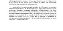 INSTRUCCIONES DE ADAPTACIÓN DE LA ELECCIÓN DE PREGUNTAS DE LOS EXÁMENES DE LA EVAU DE LA COMUNIDAD DE MADRID (ACUERDO DE LA COMISIÓN ORGANIZADORA de 12 de noviembre de 2020)