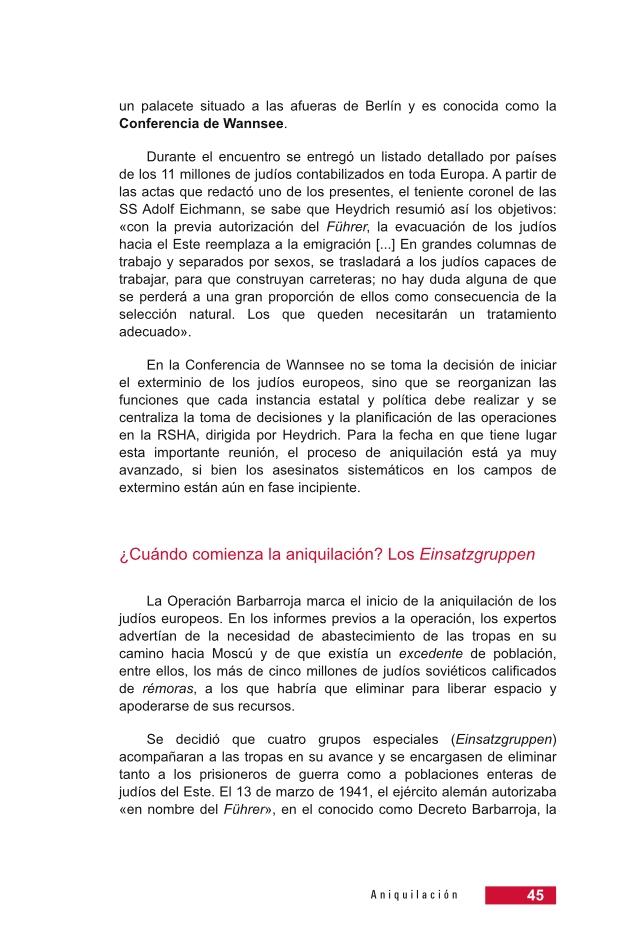 Página 45 de la Guía Didáctica de la Shoá