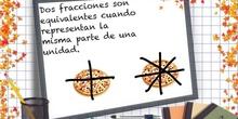 PRIMARIA 6º - FRACCIONES EQUIVALENTES - MATEMÁTICAS - FORMACIÓN