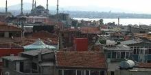 Vista de la Mezquita Azul, Estambul, Turquía