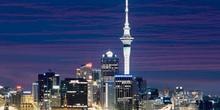 Vista nocturna de Auckland
