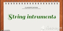 PRIMARIA - 1º, 2º, 3º, 4º, 5º, 6º - STRING INSTRUMENTS - MÚSICA - FORMACIÓN