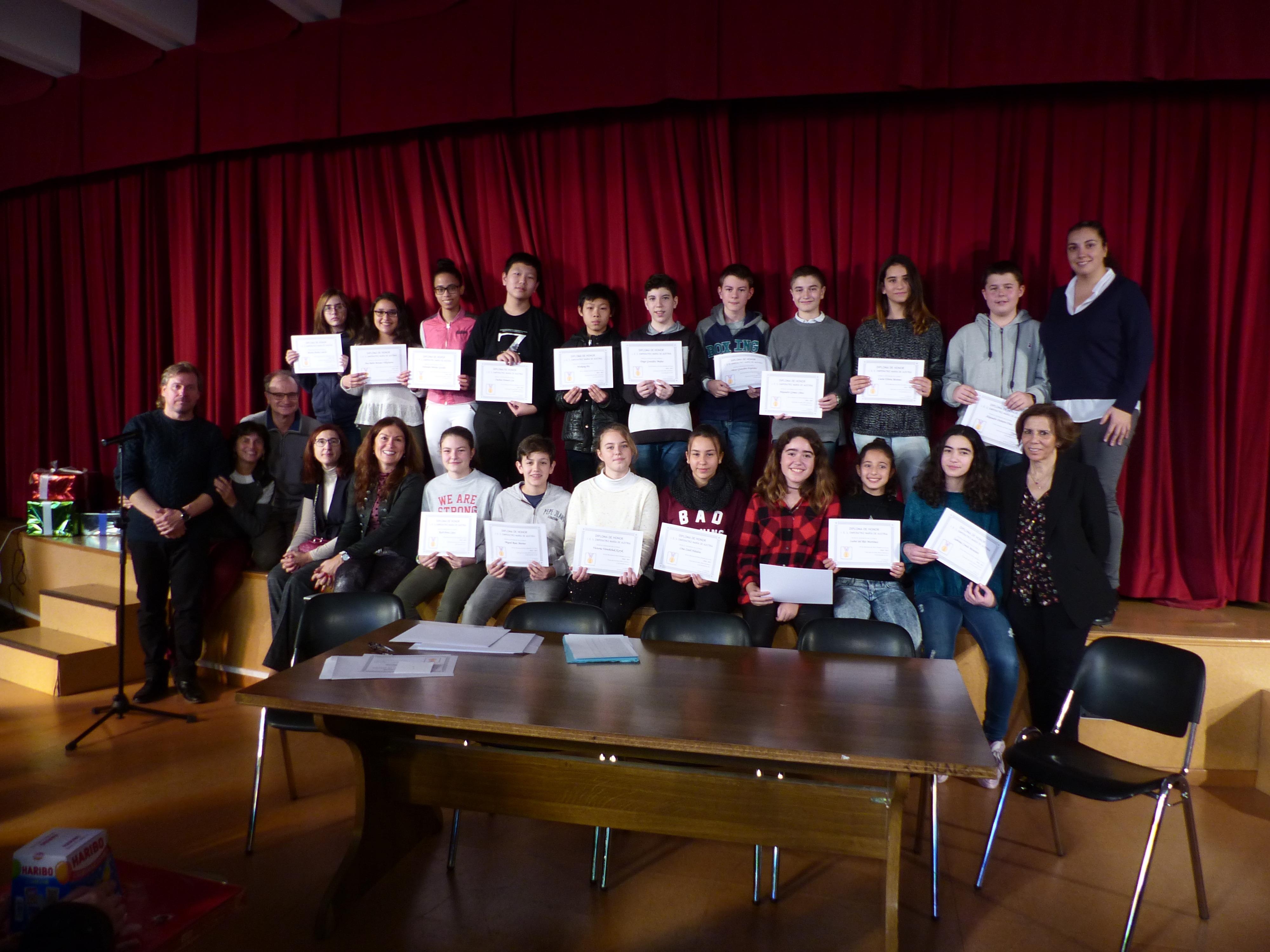 Acto Entrega Diplomas Menciones Honoríficas curso 2017-2018 3