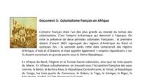 Séance 2: Histoire du colonialisme français. DOC3 Le colonialisme français en Afrique