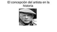 Concepción del artista en la historia