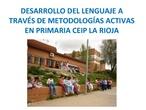 Desarrollo del lenguaje a través de metodologias activas en primaria CEIP La Rioja