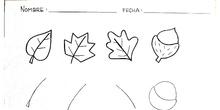 Plástica ficha hojas