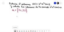 Ejemplo de factorización de un polinomio con raíces irracionales
