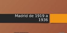 Curso LORCA EN MADRID, UNA CIUDAD EN TRANSFORMACIÓN: Madrid de 1919 a 1936