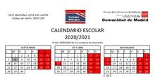 CALENDARIO ESCOLAR 2020/2021 ACTUALIZADO
