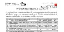 Documento 3. Cuestionarios de evaluación de la Conviencia_CEIP Isaac Peral_Curso 2019_20