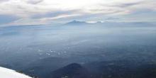 Vista de la Malinche y el Pico de Orizaba desde la cima del Izta