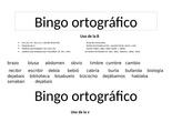 Bingo ortográfico.