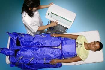 Presoterapia: puesta en funcionamiento de consola