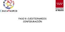 Configuración de un cuestionario