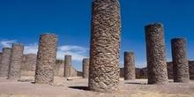 Salón de las columnas en el conjunto  arqueológica de La Quemada