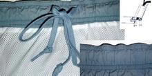 Acabado de cintura con goma y cinta